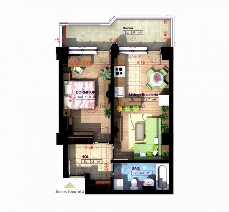 Apartament lux in Copou 50mp